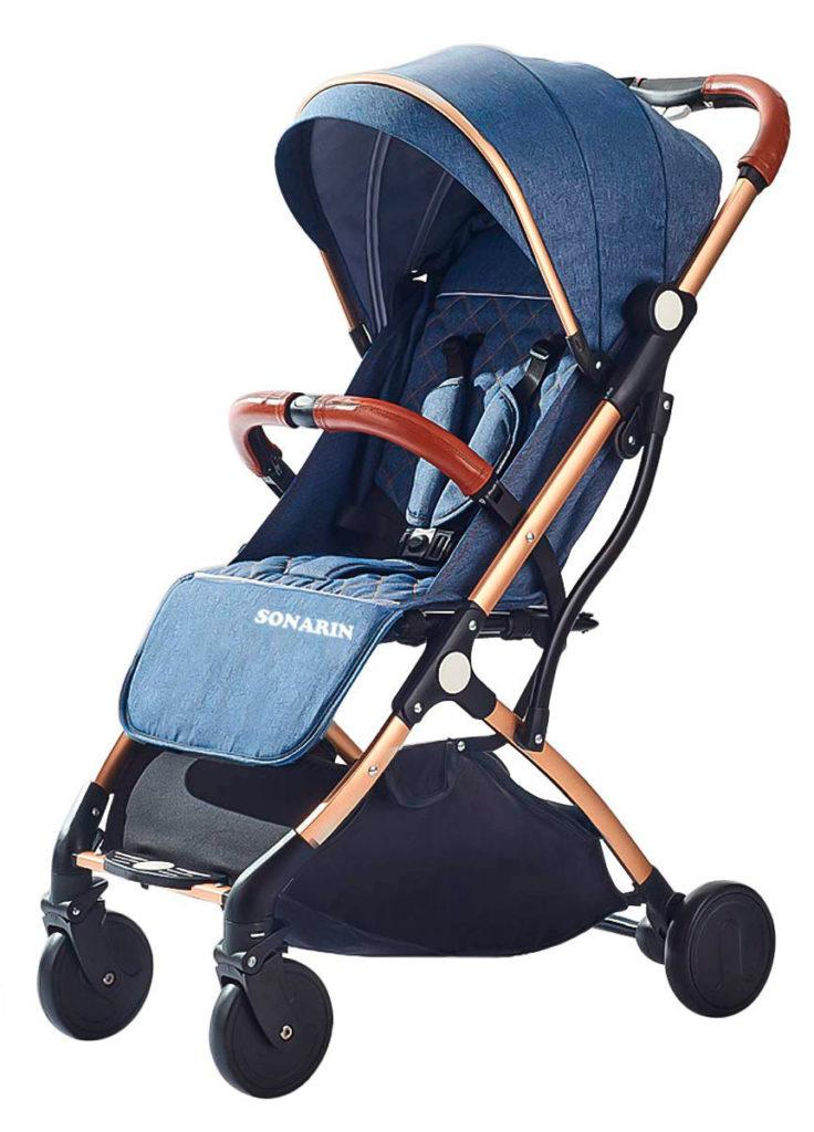 Carrito de bebé Sonarin - silla de paseo ligera para viajar, carro de bebé ligero - mejores carros de bebé