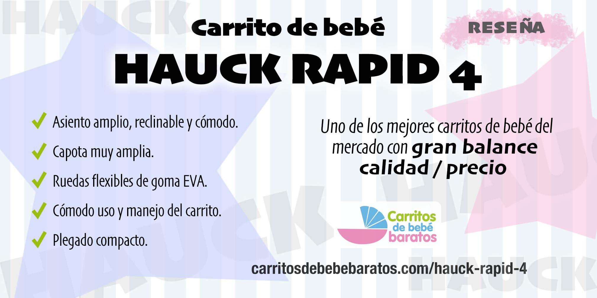 Carrito de bebé Hauck Rapid 4