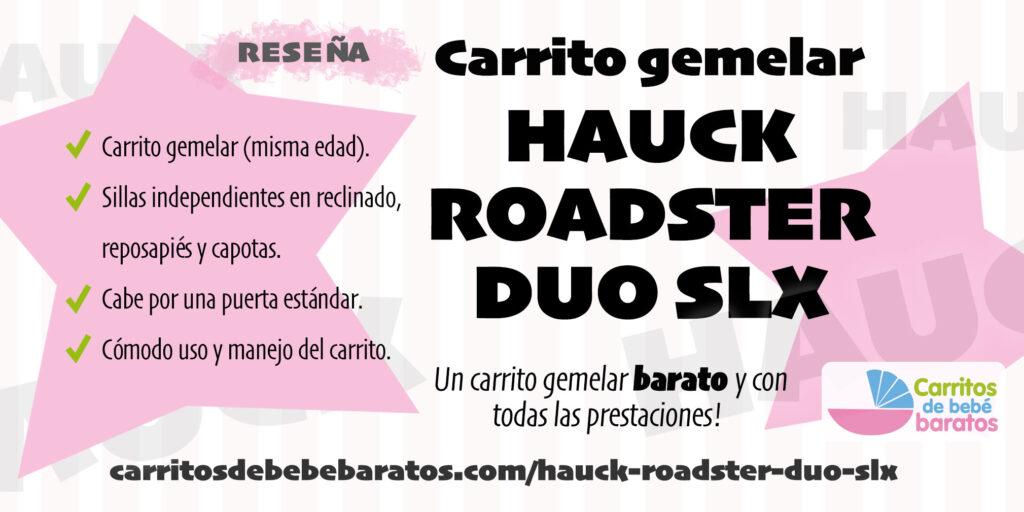 Carrito de bebé gemelar Hauck Roadster Duo SLX