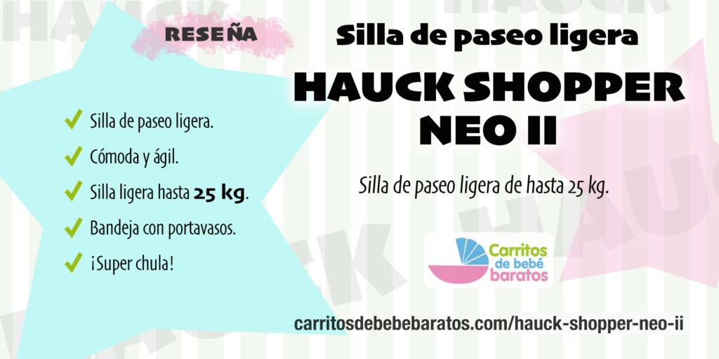 Carrito de bebé ligero Hauck Shopper Neo II